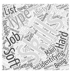JH identify your skillset Word Cloud Concept vector image