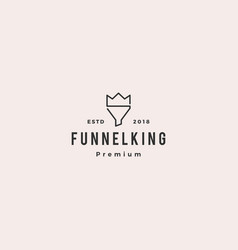 king funneling logo icon vector image