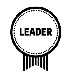 leader stamp on white vector image