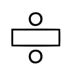 Line drawing cartoon division symbol vector