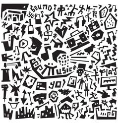 Music - doodles set vector image