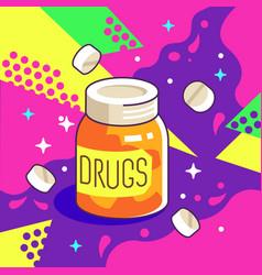 Pharmacy drugs jar vector