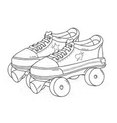 Quad roller skates on white background retro vector