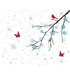 Red birds vector