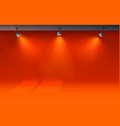 Room light studio presentation scene illuminated vector