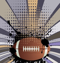 Rugby Ball on Rays Background3 vector