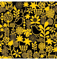 Seamless pattern with sweet birds vector image