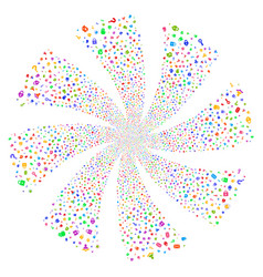 Secrecy symbols fireworks swirl rotation vector