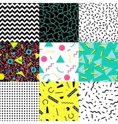 Set retro vintage 80s fashion style vector