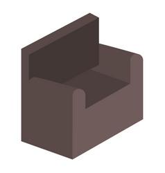 Sofa isometric isolated icon vector