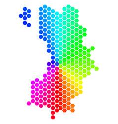 Spectrum hexagon koh tao thai island map vector