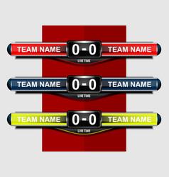 sport scoreboard template vector image