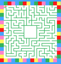 Square color labyrinth an interesting game for vector
