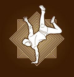 street dance b boys dance hip hop dancing action vector image