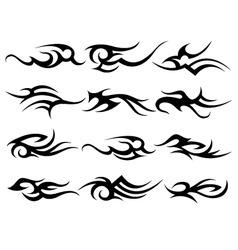 tribal tattoo element set vector image