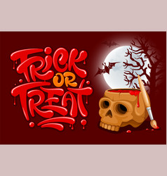 trick or treat lettering vector image