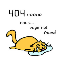 upset orange cat tik lies in tears vector image