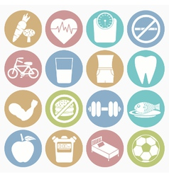 white icons health vector image
