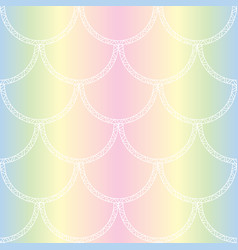 white mermaid tail texture fish scales seamless vector image