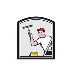 Window Washer Cleaner Cartoon vector image