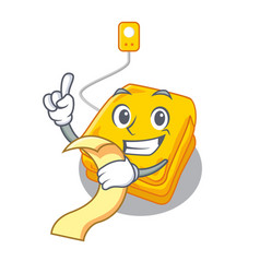 With menu electric blankets stored in mascot vector