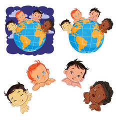 young children of with different skin color vector image