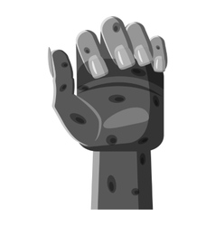 Zombie hand icon gray monochrome style vector image