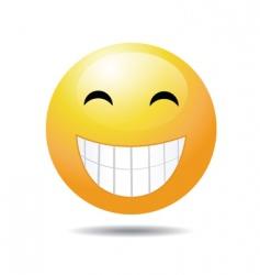 cheesy grin vector image