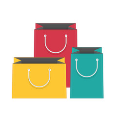 colored paper bags vector image