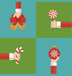 new year concept modern design flat set vector image vector image