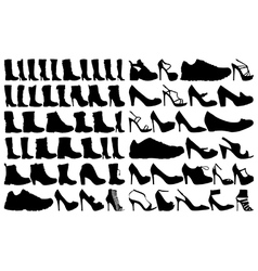 Shoe and boots vector image vector image