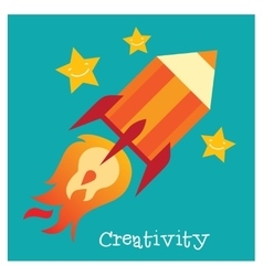 Children creativity development vector image