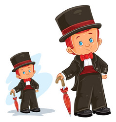 clip art with young boy in vector image vector image
