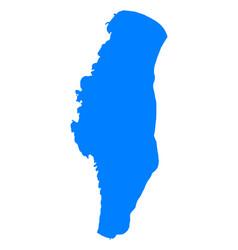 Map of lake winnebago vector