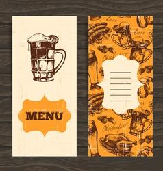 Menu for restaurant cafe bar Oktoberfest vintage vector image