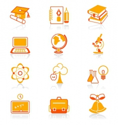 education objects icons juicy series vector image vector image