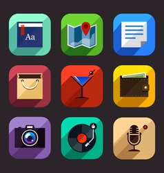 Flat App Icons Set 2 vector image vector image