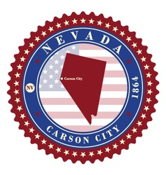 Label sticker cards of state nevada usa vector