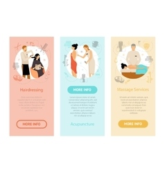Beauty Spa Salon People Vertical Banners vector image vector image