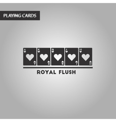 black and white style royal flush vector image