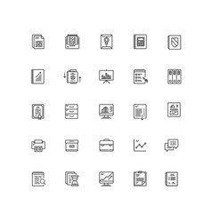business documents finance simple icon line vector image vector image
