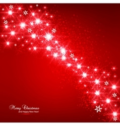 Christmas elegant snowflakes background vector image