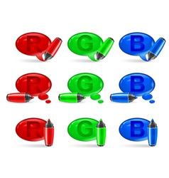 felt tip pen speech symbol rgb v vector image vector image