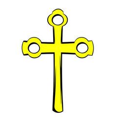 religious symbol of crucifix icon icon cartoon vector image