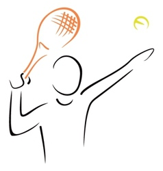 Tennis serve vector image vector image