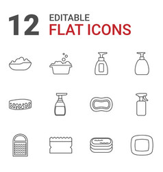 12 soap icons vector