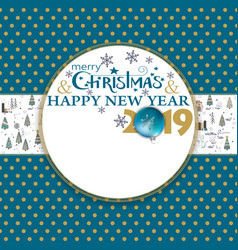 2019 happy new year card for your design with vector image