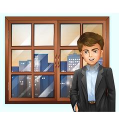 A man near the window vector