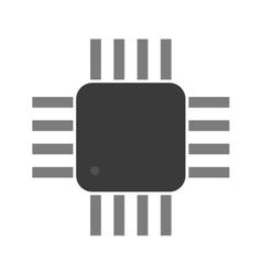 a microcontroller CPU Processor vector image