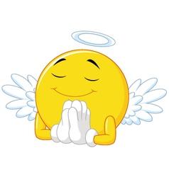 Angel emoticon vector